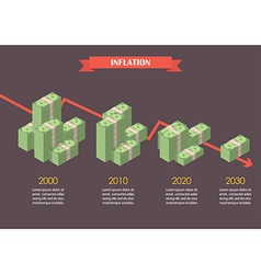 Cash money inflation infographic vector
