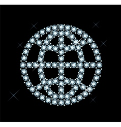 Diamond world icon vector