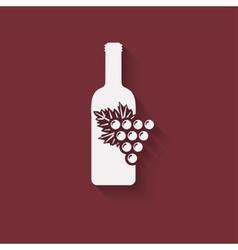 grapes wine design element vector image
