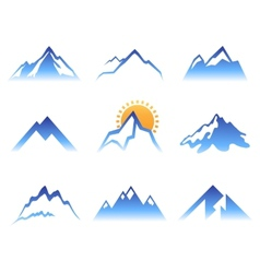 mountains signs vector image