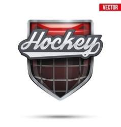 Premium symbol of ice hockey label vector