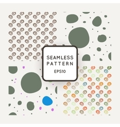 A set of four seamless patterns spirals vector