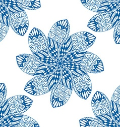 Blue seamless pattern vector