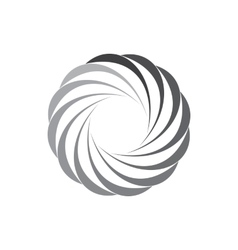 Geometric circle of abstract curves icon vector