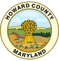 Howard county seal vector image