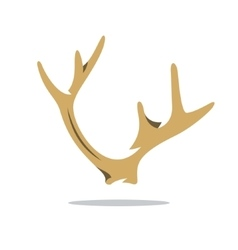 Deer horns cartoon vector