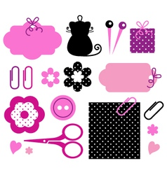 Design elements for handmade fashion vector image
