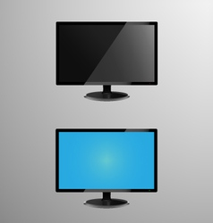 A monitor with editable screen vector