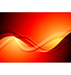Abstract red waves design vector image vector image