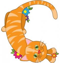 alphabet animal c vector image