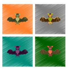 Assembly flat shading style icon cute bat vector