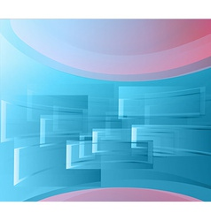 Background blue windows vector image