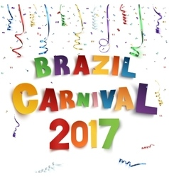 Brazil carnival 2017 background with confetti and vector