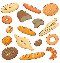 Bread doodles vector