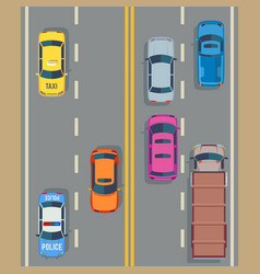 cars seamless background traffic and road vector image