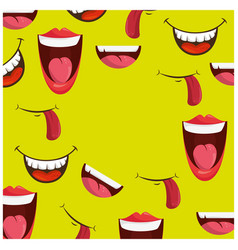 Cartoon faces background vector