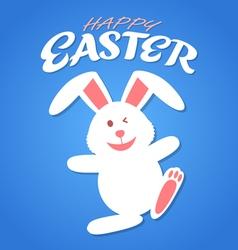 Cartoon rabbit easter vector