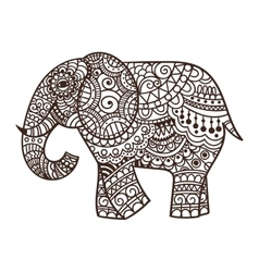 Decorative elephant vector