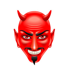 devil face isolated on white vector image