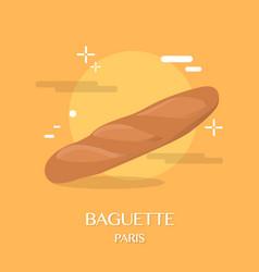 Famous french cuisine baguette vector