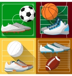 Football basketball volleyball soccer field vector image vector image