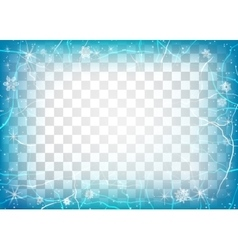 Frame of ice on transparent background Winter vector image vector image