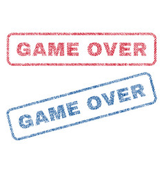 Game over textile stamps vector