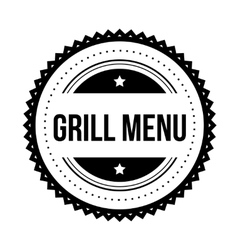 Grill menu vintage stamp vector image