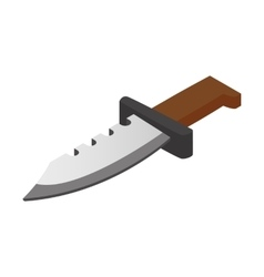 Hunting knife isometric 3d icon vector