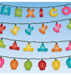 mexican novelty lights vector image vector image