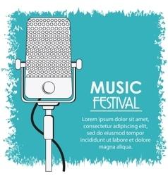 Microphone music sound media festival icon vector