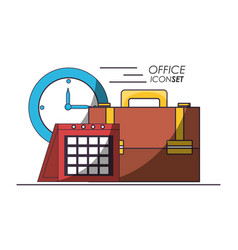 office icon set design vector image
