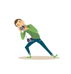 Photographer in Flat Style vector image vector image