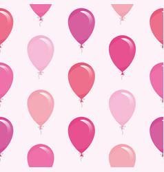 pink balloons seamless pattern background for vector image vector image