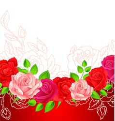 roses backgr vector image vector image