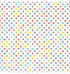 Seamless dotted pattern polka dot fabric vector image