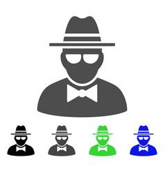 Secret agent flat icon vector