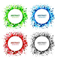 Set of Bright Abstract Circles Frames vector image