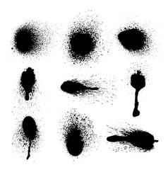 set of ink splashes eps 10 vector image