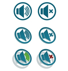 Set of simple speaker icons vector image vector image