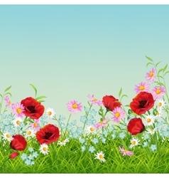 Summer Flower Flyer vector image