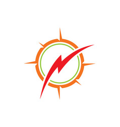 Thunder bolt logo vector