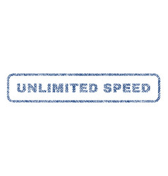 Unlimited speed textile stamp vector