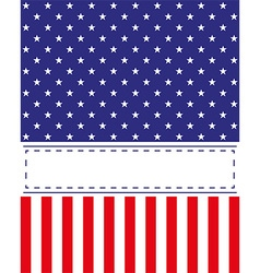 US Independence Day card vector image vector image