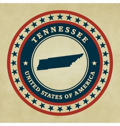 Vintage label tennessee vector