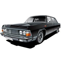 Vintage soviet limousine vector