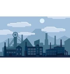 Industrial factory building concept vector