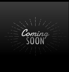 Dark background with coming soon text with line vector