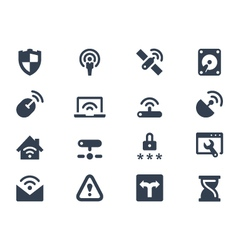 Wireless network icons vector image