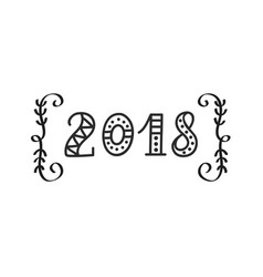 2018 year hand lettering vector image
